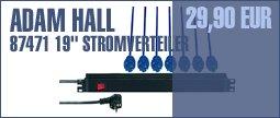 "Adam Hall 87471 19"" Power Strip"