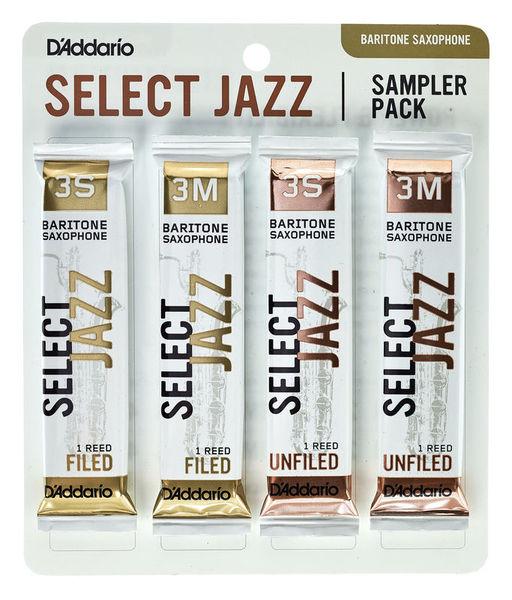 Select Jazz Bari Sampler Pck 3 D'Addario Woodwinds