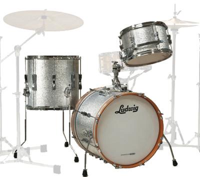 Ludwig LR318 Club Date Silver Sparkle