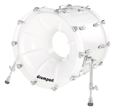 "Drumport 22"" Megaport Booster White"